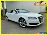 2010 Audi A3 8P TFSI Attraction Convertible 2dr S tronic 7sp 1.8T [MY10] White for Sale